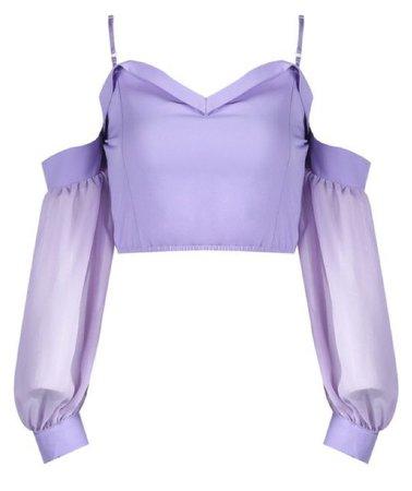 Purple Sleeveless Crop Top