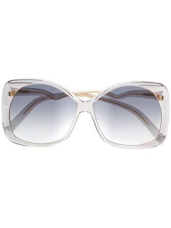 Emmanuelle Khanh Oversized Gradient Lense Sunglasses EK11500 | Farfetch