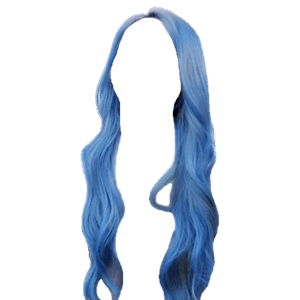blue hair png curly