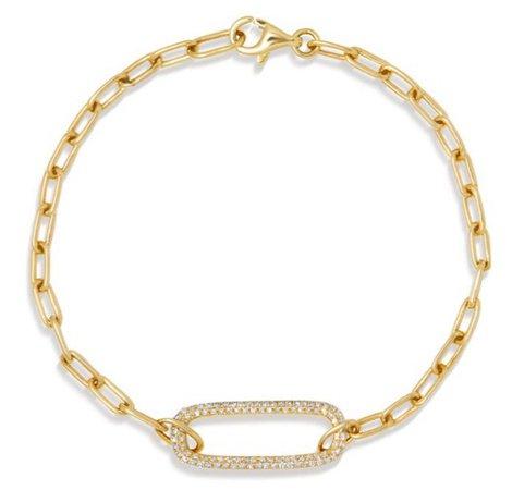 YELLOW GOLD DIAMOND CHAIN LINK MAEVE BRACELET