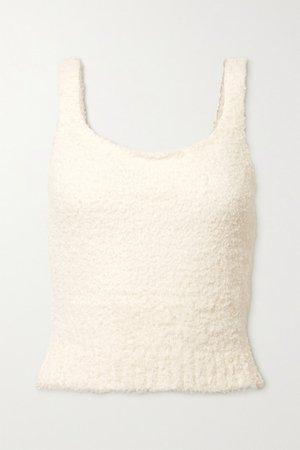 Cozy Knit Boucle Tank - Bone