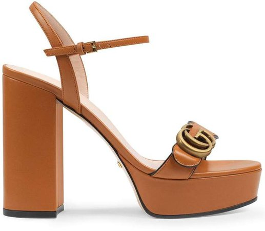 GG plaque platform sandals