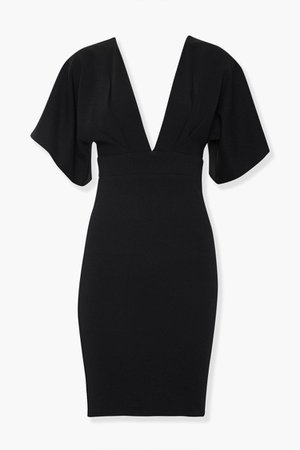 Plunging Bodycon Dress   Forever 21