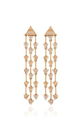 Trilogy 18k Rose Gold Diamond Earrings By Alessa   Moda Operandi