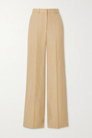 Morissey Woven Wide-leg Pants - Beige