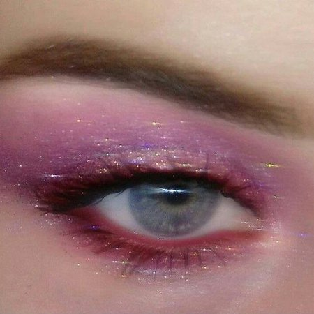 pink glitter eyeshadow aesthetic