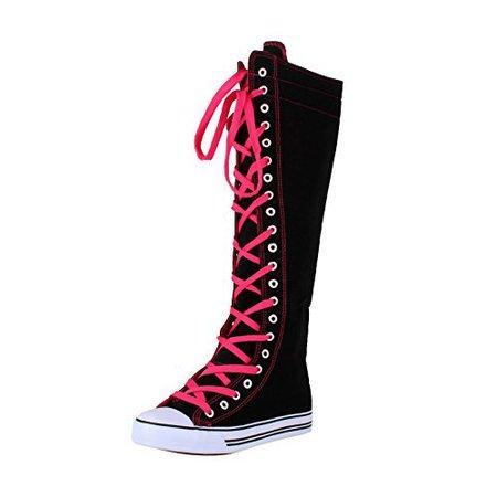 Antigua and Barbuda - Desertcart West Blvd Sneaker Boots Black Fuchsia Canvas, 6
