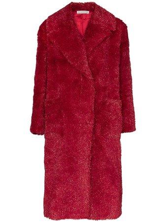 Vika Gazinskaya Faux Fur Long Coat - Farfetch
