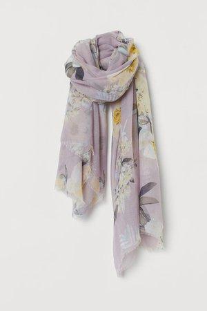 Airy Scarf - Light purple cream floral - Ladies | H&M US