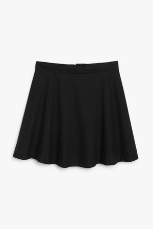 A-line skirt - Black - Mini skirts - Monki WW