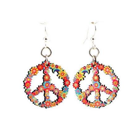 peace flower earrings