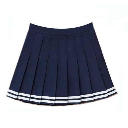 2018 High Waist Denim Pleated Skirts Harajuku Lolita Stripe A Line Sailor Skirt Mini Japanese School Skirts Uniform For Women-in Skirts from Women's Clothing on Aliexpress.com | Alibaba Group