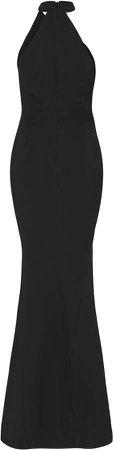 Arden Asymmetrical Twill Gown