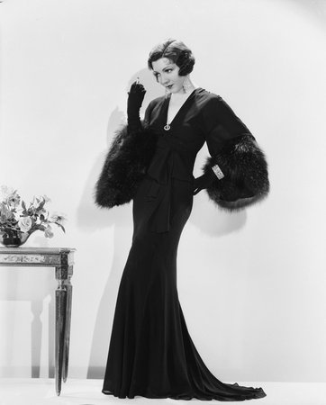 1920s long sleeve gown