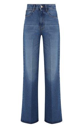 Женские синие джинсы AMI — купить за 25150 руб. в интернет-магазине ЦУМ, арт. E21FD302.601