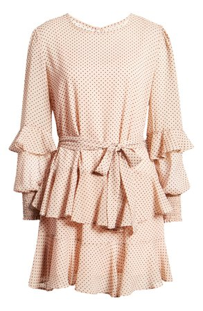 MINKPINK Be Someone Ruffle Long Sleeve Minidress | Nordstrom