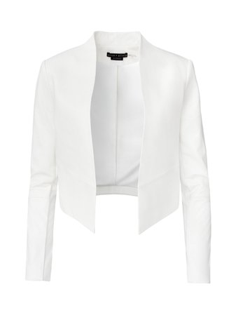 NEW HARVEY LEATHER JACKET in WHITE | Alice and Olivia