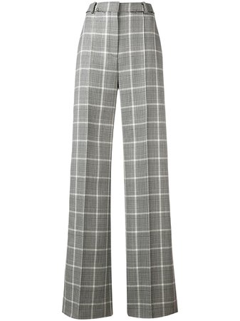Stella McCartney wide-leg Check Trousers - Farfetch