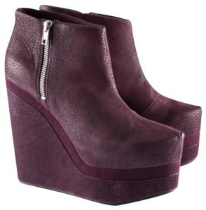 purple ankle boots wedge - Google Search