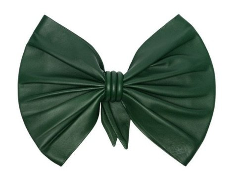MONTANA | forest green bow-embellished leather necktie, £850