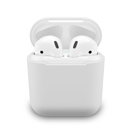 PodSkinz AirPods Case Protective Silicone Cover and Skin for Apple Airpods Charging Case - Clear