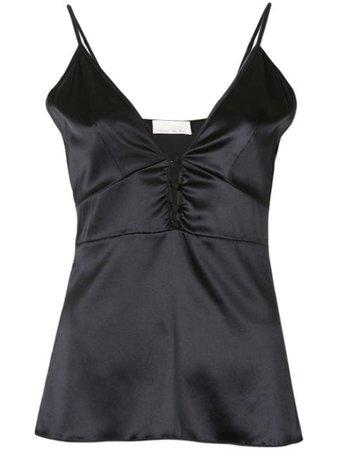 Fleur Du Mal button-front cami black TP03390100 - Farfetch