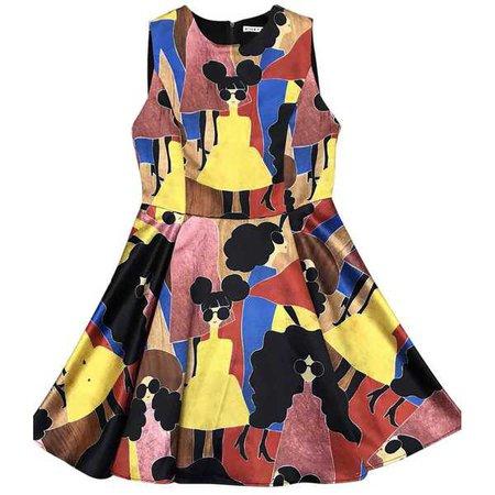 Alice + Olivia Stasia Stacey Print Pleated Dress