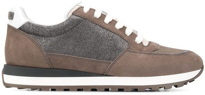 Panelled Lace-Up Trainers