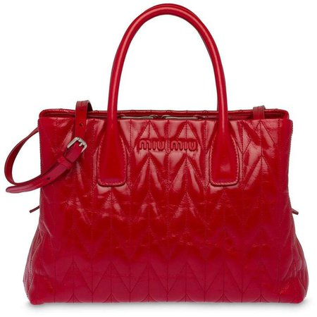 quilted glossy tote bag