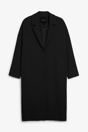 Long dressy coat - Black magic - Coats & Jackets - Monki GB