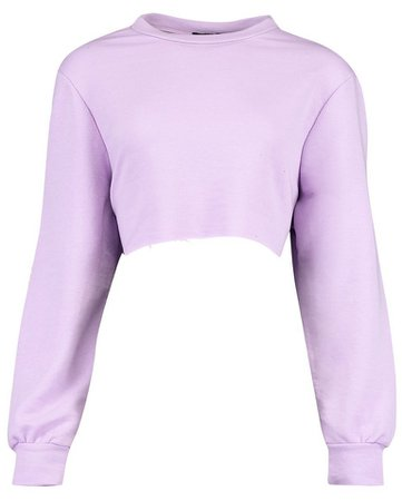 boohoo purple cropped jumper
