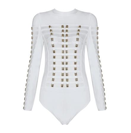 gold white bodysuit - Google Search