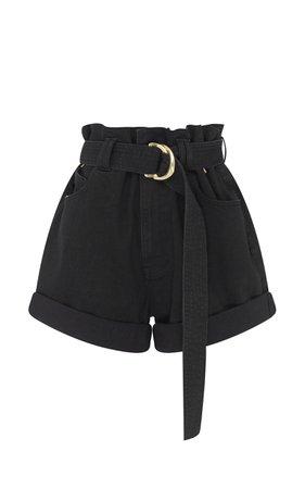 Salt Lake Belted Denim Shorts by Aje   Moda Operandi