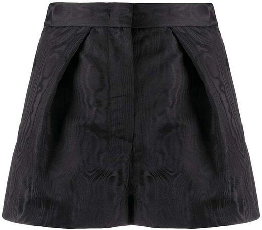 high-waisted pleated detail shorts