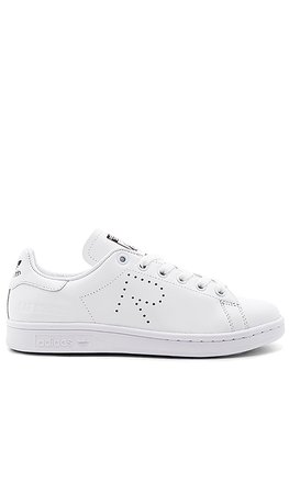 adidas by Raf Simons RS Stan Smith Lace Up Sneaker in White & Black | REVOLVE