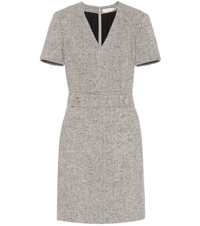 Priscilla linen-wool blend dress