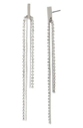 Silver Dangle Drop Earrings