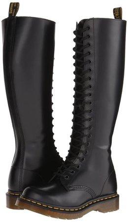 Doc Martens Black Leather Combat Boots