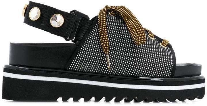 jacquard sandals
