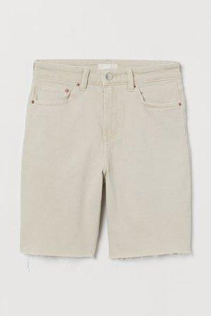 Culotte courte en jean - Beige clair - FEMME | H&M CA