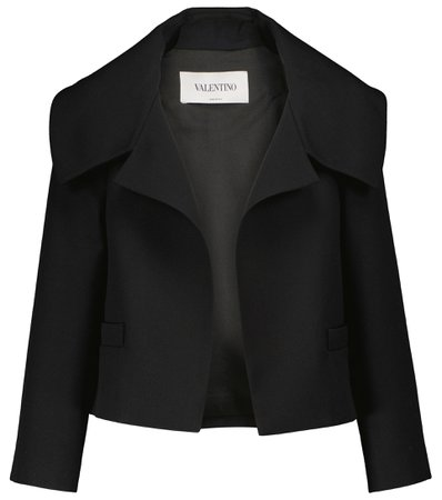 Valentino Wool and silk cropped jacket