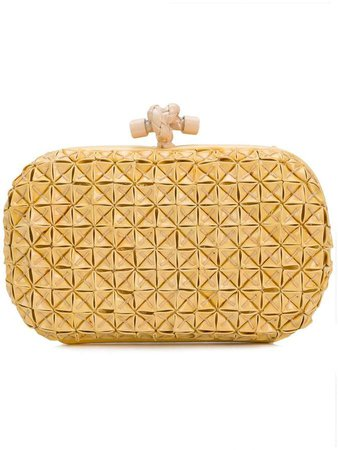 Pre-Owned textured Knot clutch