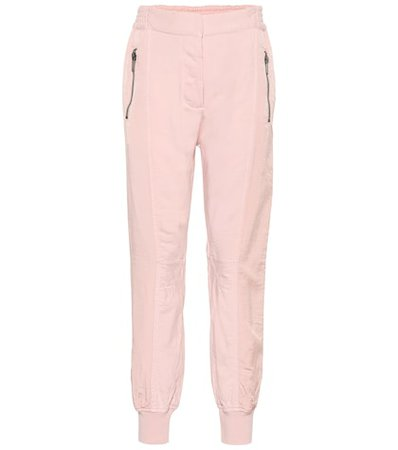 Cotton jersey and twill trackpants