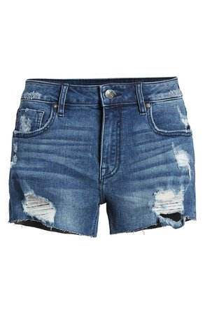 Vigoss Marley High Waist Distressed Denim Shorts