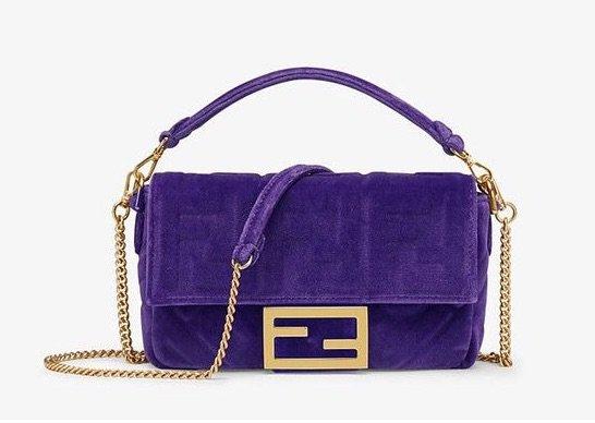 velvet purple bag
