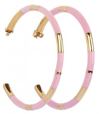 ACTUA POSITANO HOOP EARRINGS IN BABY PINK - EARRINGS :: Soho Soho