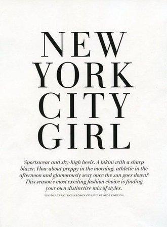 New York city girl text
