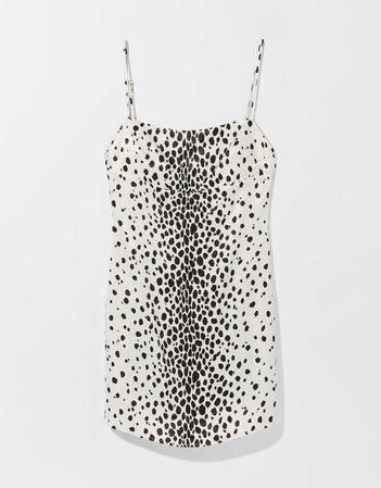 Short satin animal print camisole dress - Dresses - Woman | Bershka