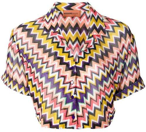 Mare zig-zag cropped shirt