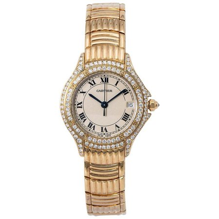 Cartier Cougar 1171 1, Beige Dial, Certified and Warranty For Sale at 1stDibs